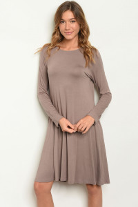 S17-8-2-D5239 TAUPE DRESS 1-1-1