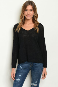 S3-10-3-T1194 BLACK KNIT SWEATER 3-3