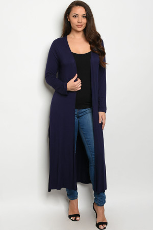 S11-16-3-C1163X NAVY PLUS SIZE CARDIGAN 3-2-1