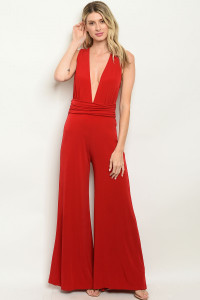 C100-A-4-J6198 RED JUMPSUIT 2-2-2