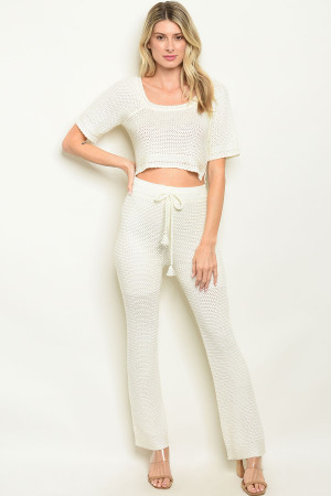 S8-12-1-SET1064 IVORY TOP & PANTS SET 3-2-1