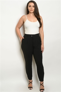 S11-1-1-P1270528X BLACK PLUS SIZE PANTS 2-2-2
