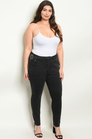 S10-8-4-P1290272X BLACK PLUS SIZE PANTS 2-2