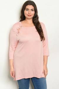 C90-A-6-T15551X BLUSH PLUS SIZE TOP 2-2-2