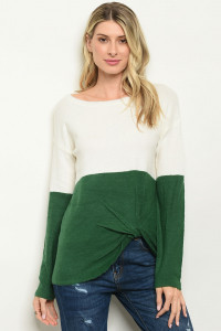 S23-2-3-S97457 IVORY GREEN SWEATER 2-2-2