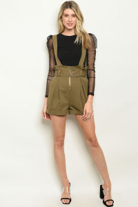 S21-8-5-S37612 OLIVE SHORTS 2-2-2