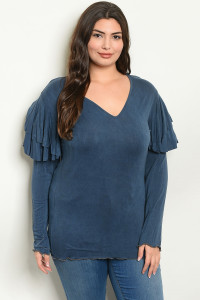 S24-4-5-T14675X INDIGO PLUS SIZE TOP 2-2-2
