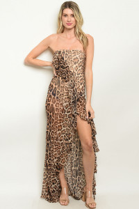 S16-1-5-MD5828 LEOPARD PRINT MAXI DRESS 3-2-1