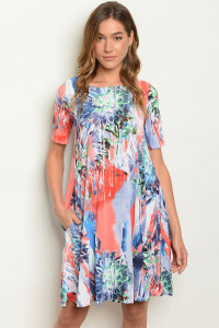 C47-A-7-D3500 MULTY PRINT DRESS 2-2-2
