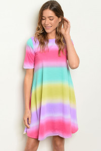 C43-A-5-D3500 MULTICOLOR DRESS 2-2-2