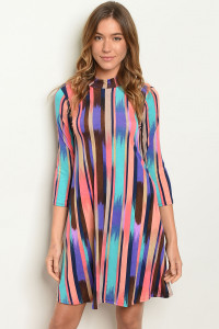 C75-A-4-D39927 MULTICOLOR DRESS 2-2-2