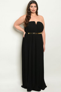 S21-1-1-D9594X BLACK PLUS SIZE DRESS 3-2-1
