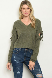 S10-14-3-T123594 OLIVE SWEATER 3-2-1