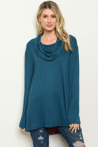 C40-A-2-T61146X TEAL BRICK PLUS SIZE TOP 2-2-2