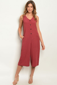 S25-4-5-J50201 BURGUNDY JUMPSUIT 2-2-2