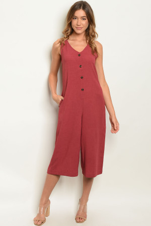 S21-10-3-J50201 BURGUNDY JUMPSUIT 2-4-1