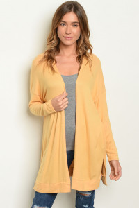 S20-5-3-C170201 YELLOW CARDIGAN 3-2-1