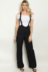 S18-12-3-O5488 NAVY CHECKERED OVERALL 3-2-1