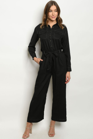 S23-12-3-J1452 BLACK JUMPSUIT 3-1