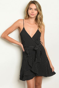 S11-8-4-D1818 BLACK STRIPES DRESS 3-2-1