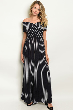 S20-10-1-J1874 NAVY WHITE STRIPES JUMPSUIT 4-2-1