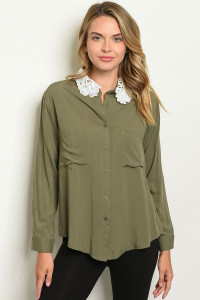 S11-5-5-T1684 OLIVE TOP 2-2-2