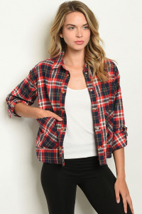 S20-12-2-T9207 RED NAVY CHECKERED TOP 2-2-2
