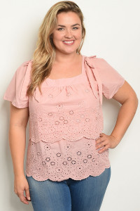 S20-11-2-T59632X BLUSH PLUS SIZE TOP 3-3-2