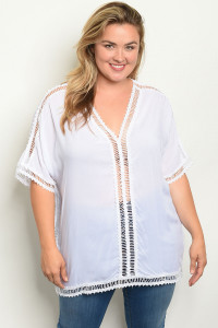 C52-A-1-T2488X WHITE PLUS SIZE TOP 1-3