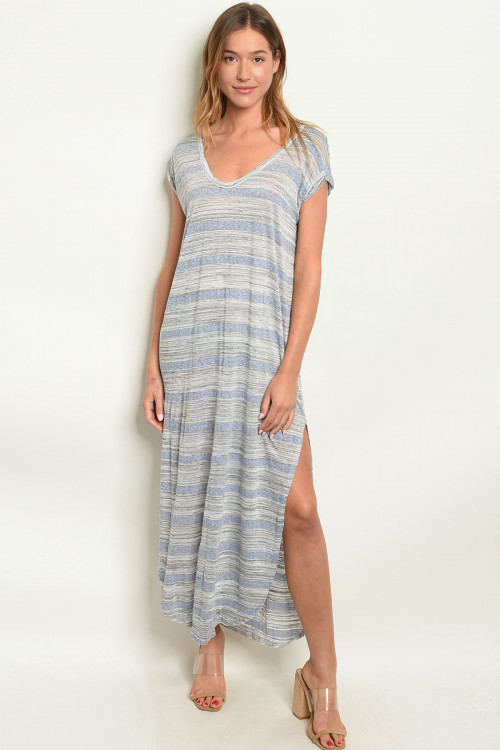 C13-A-2-D10392 GRAY BLUE DRESS 2-2-2