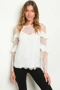 S14-7-4-T5484 OFF WHITE TOP 3-2-1