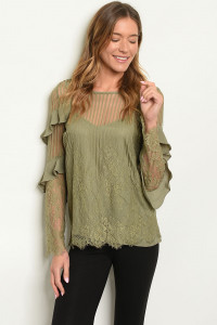 S14-7-4-T5484 OLIVE TOP 3-2-1