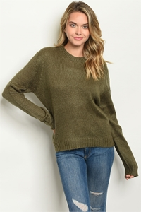 S14-6-3-S7002 OLIVE SWEATER 2-2-2