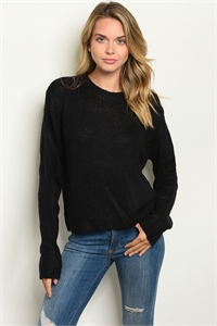 S14-6-2-S7002 BLACK SWEATER 2-2-2