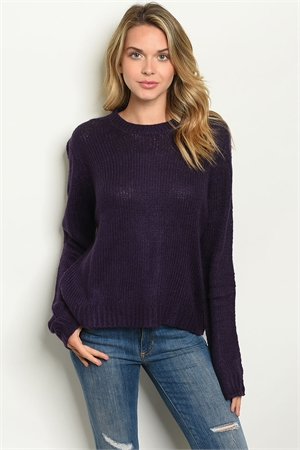S13-5-2-S7002 PURPLE SWEATER 2-2-2