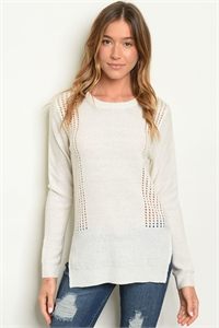 S18-11-6-T1635 IVORY SWEATER 2-2-2