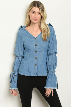 S10-7-3-T22107 DENIM BLUE TOP 2-2-2