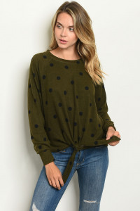 SA4-00-4-T4096 OLIVE BLACK WITH DOTS TOP 2-2-2