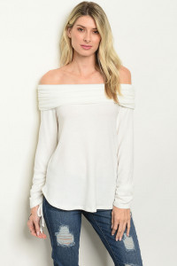 C61-A-3-T1153 OFF WHITE TOP 2-2-2