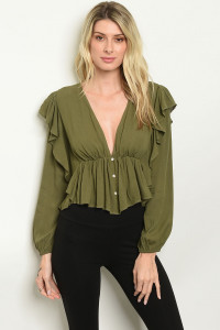 S18-11-4-T1015 OLIVE TOP 2-2-2