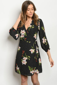 S6-7-1-D7059 BLACK WITH FLOWER DRESS 2-2-2