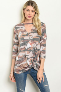 C90-B-1-T7518 BROWN ARMY CAMOUFLAGE TOP 2-2