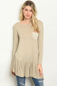 C97-A-2-T7383 TAUPE TOP 2-2-2