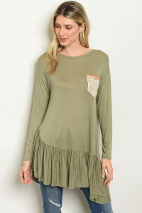 C91-A-5-T7383 OLIVE TOP 2-2-2