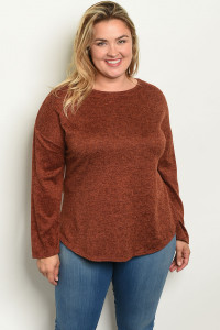 S16-10-3-T3835X BRICK PLUS SIZE TOP 2-1-1
