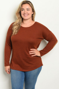 S20-12-3-T3973X BRICK PLUS SIZE TOP 2-1-1
