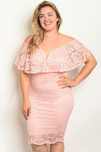 S13-11-4-D12789CX PEACH PLUS SIZE DRESS 2-2-2