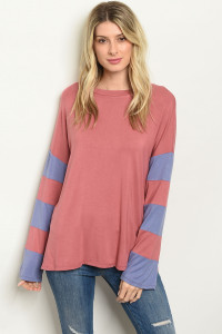 C100-B-7-T8792 MAUVE BLUE TOP 2-2-2