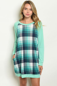 S9-16-2-D1333 MINT CHECKERED DRESS 2-2