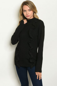 S24-7-2-S1617 BLACK SWEATER 3-1-1